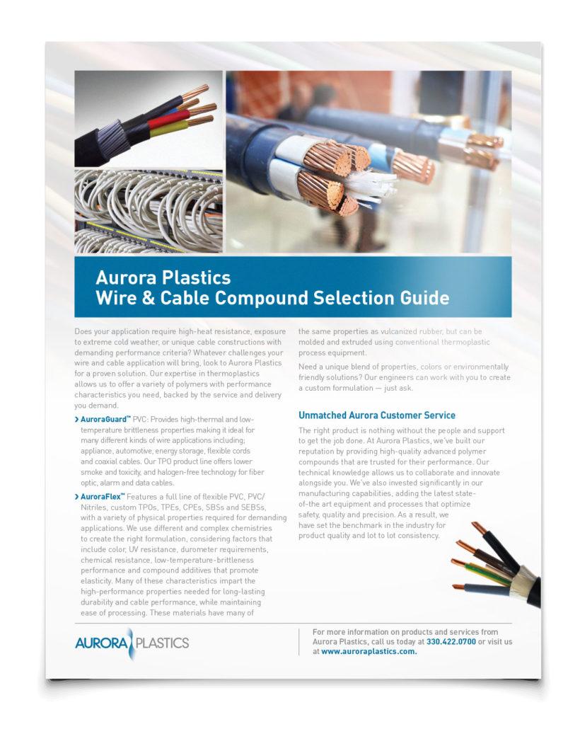 Aurora Plastics Wire and Cable Guide